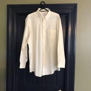 Brooks Brothers Ivory Dress Shirt Sz 17 4/5